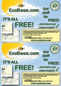 2x EcoBees A5 posters on A4 sheet