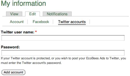 [Enter Twitter details]