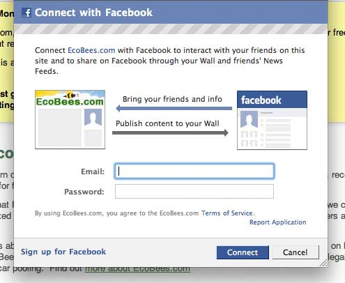 [Facebook login screenshot]