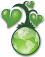 [green globe]