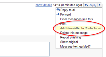 [Add Newsletter to Contacts List]