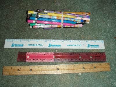 Pencils & Rulers