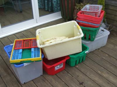 Slightly dished Crates - but still functional.