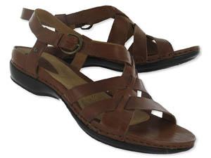 Womens Longmeadow peanut low strappy sandals
